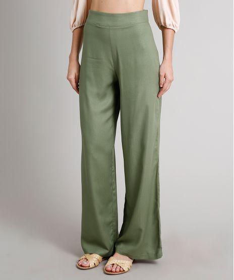 Calca-Feminina-Pantalona-Alfaiatada-Verde-Militar-9610682-Verde_Militar_1