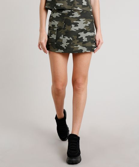 Short-Saia-Feminino-Estampado-Camuflado-com-Bolso-Verde-Militar-9691418-Verde_Militar_1