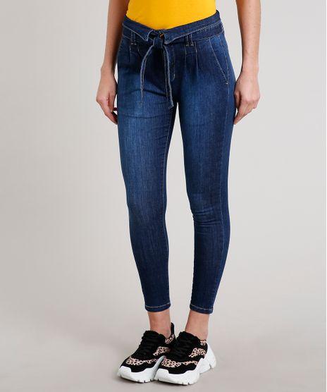 Calca-Jeans-Feminina-Sawary-Skinny-com-Cinto-Azul-Escuro-9671822-Azul_Escuro_1