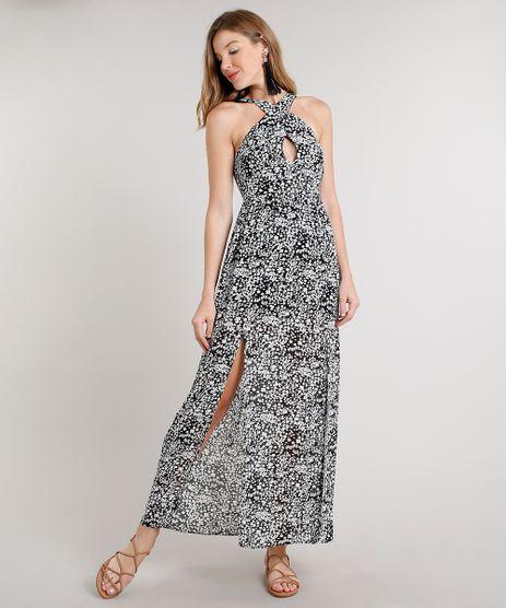 Vestido-Feminino-Longo-Estampado-Floral-com-Alcas-Largas-Preto-9557772-Preto_1
