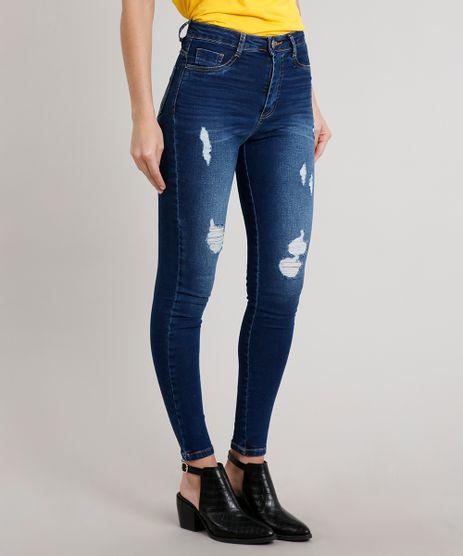 Calca-Jeans-Feminina-Sawary-Super-Lipo-Super-Skinny-Azul-Escuro-9709216-Azul_Escuro_1