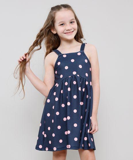 Vestido-Infantil-Estampado-de-Poa-com-Alcas-Medias-Azul-Marinho-9612583-Azul_Marinho_1