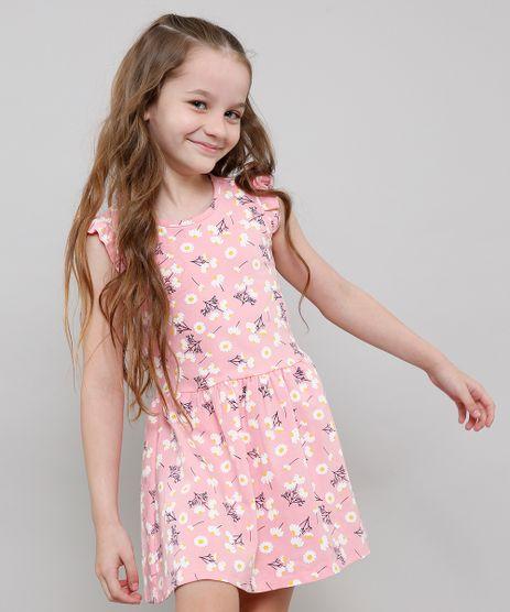 Vestido-Infantil-Estampado-Floral-Sem-Manga-Decote-Redondo-Rosa-9612587-Rosa_1