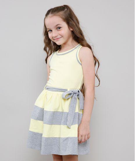 Vestido-Infantil-com-Recortes-e-Laco-Sem-Manga-Amarelo-9222072-Amarelo_1