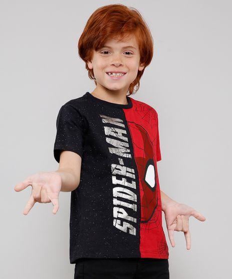 Camiseta-Infantil-Homem-Aranha-com-Recorte-Bicolor-Manga-Careca-Preta-9455779-Preto_1