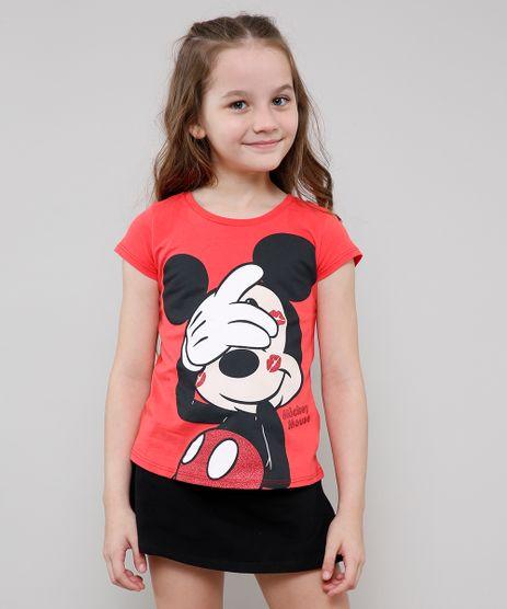 Blusa-Infantil-Mickey-com-Glitter-Manga-Curta-Vermelho-9610879-Vermelho_1