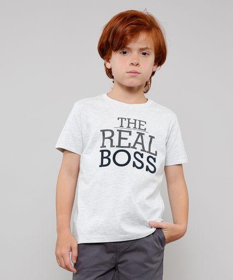 Camiseta-Infantil-Tal-Pai-Tal-Filho--The-Real-Boss--Manga-Curta-Cinza-Mescla-Claro-9649879-Cinza_Mescla_Claro_1