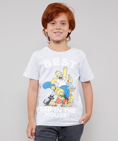 Camiseta-Infantil-Tal-Pai-Tal-Filho-Os-Simpsons-Manga-Curta--Cinza-Mescla-Claro-9646629-Cinza_Mescla_Claro_1