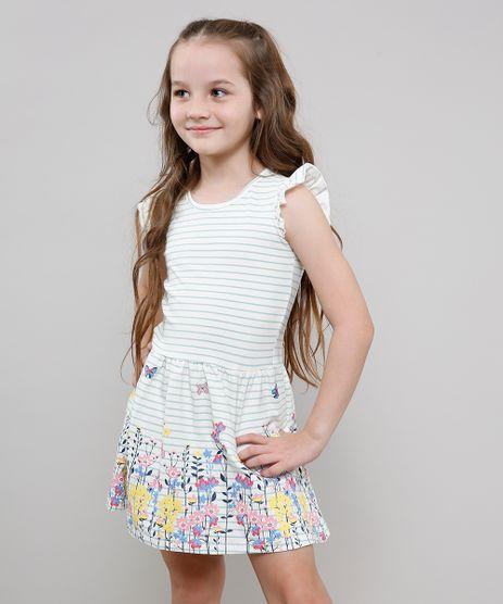 Vestido-Infantil-Listrado-com-Flores-Sem-Manga-Decote-Redondo-Off-White-9612586-Off_White_1
