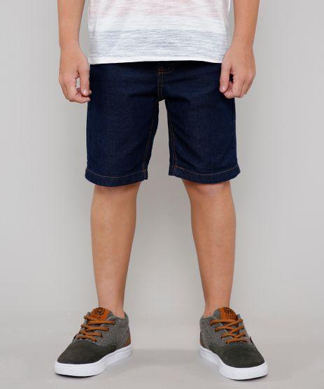 Bermuda-Jeans-Infantil-com-Barra-Dobrada-Azul-Escuro-9655094-Azul_Escuro_1