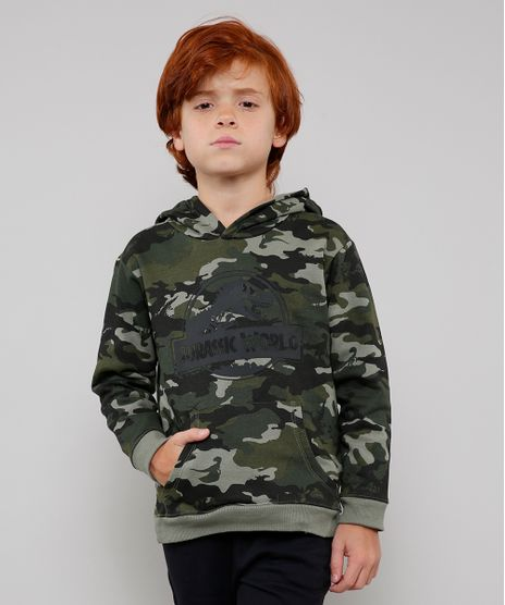 Blusao-Infantil-Jurassic-World-em-Moletom-Estampado-Camuflado-com-Capuz-Verde-Militar-9541570-Verde_Militar_1