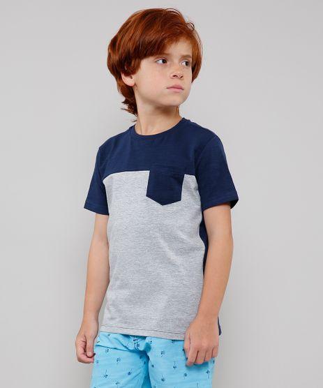 Camiseta-Infantil-com-Recorte-e-Bolso-Manga-Curta-Azul-Marinho-9630894-Azul_Marinho_1
