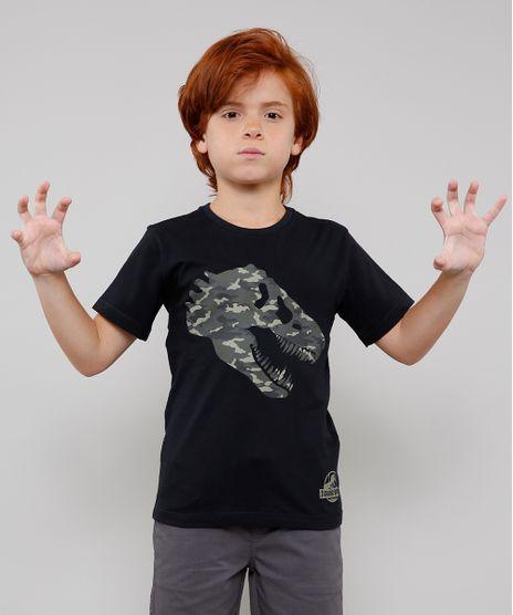 Camiseta-Infantil-Jurassic-World-Manga-Curta-Preta-9541331-Preto_1