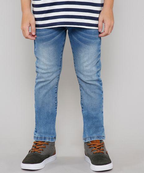 Calca-Jeans-Infantil-Reta-com-Bolsos-Azul-Medio-9637827-Azul_Medio_1