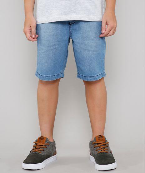 Bermuda-Jeans-Infantil-com-Cordao-e-Bolsos-Azul-Claro-9641331-Azul_Claro_1