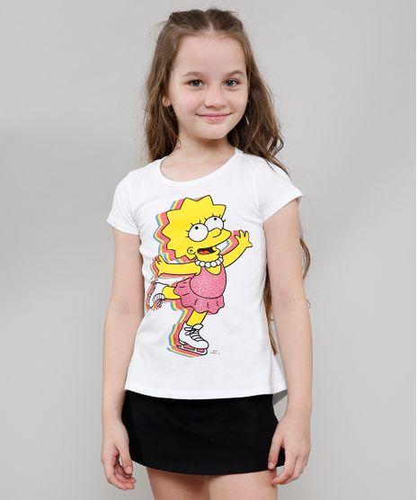 Blusa-Infantil-Lisa-Simpson-com-Glitter-Manga-Curta-Branca-9635668-Branco_1