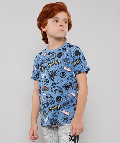 Camiseta-Infantil-Os-Vingadores-Estampada-Manga-Curta-Azul-9631353-Azul_1