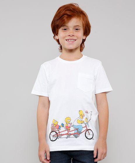 Camiseta-Infantil-Tal-Pai-Tal-Filho-Os-Simpsons-Manga-Curta-Off-White-9649878-Off_White_1
