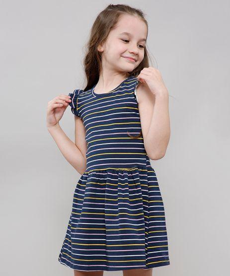 Vestido-Infantil-Listrado-Sem-Manga-Decote-Redondo-Azul-Marinho-9612585-Azul_Marinho_1