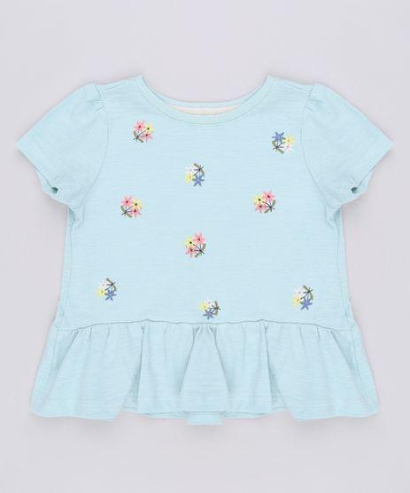 Blusa-Infantil-com-Bordado-Floral-Manga-Curta-Verde-9678618-Verde_1