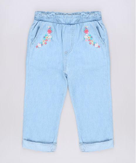 Calca-Jeans-Infantil-com-Bordado-Floral-Azul-Claro-9673656-Azul_Claro_1