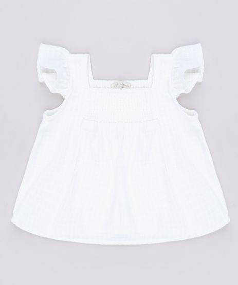 Blusa-Infantil-Texturizada-com-Babado-na-Manga-Off-White-9560843-Off_White_1