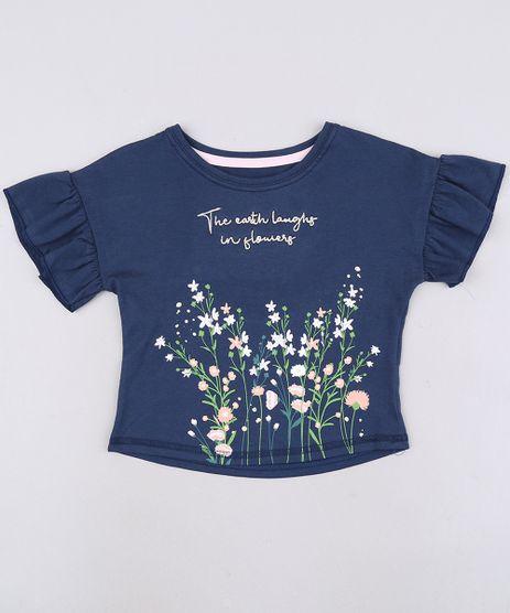Blusa-Infantil--Flowers--Manga-Curta-Azul-Marinho-9676835-Azul_Marinho_1