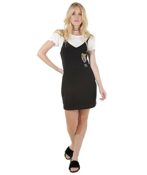Black Friday Vestido Com Blusa Preto Cea