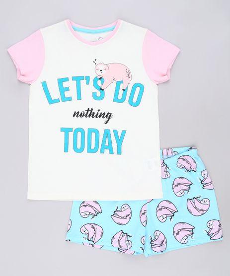 Pijama-Infantil-Bicho-Preguica-Manga-Curta-Off-White-9640941-Off_White_1