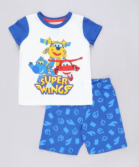 Pijama-Infantil-Super-Wings-Manga-Curta-Off-White-9632351-Off_White_1