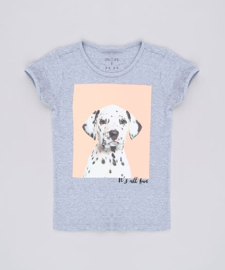 Blusa-Infantil-Cachorro-Manga-Curta-Cinza-Mescla-9657898-Cinza_Mescla_1