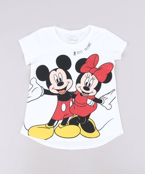 Blusa-Infantil-Mickey-e-Minnie-com-Glitter-Manga-Curta-Off-White-9691097-Off_White_1