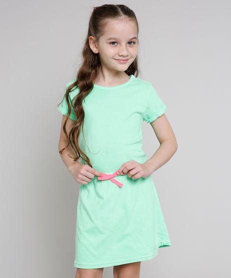 Vestido-Infantil-com-Laco-Neon-Manga-Curta-Verde-9636525-Verde_1