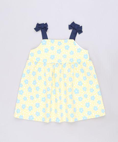 Vestido-Infantil-Estampado-Floral-Alcas-Medias-Amarelo-9590213-Amarelo_1