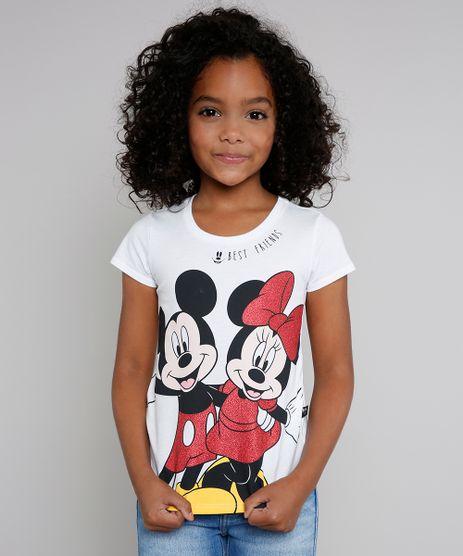 Blusa-Infantil-Minnie-e-Mickey-com-Glitter-Manga-Curta-Off-White-9610882-Off_White_1