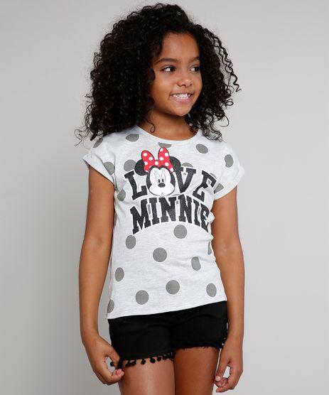 Blusa-Infantil--I-Love-Minnie--com-Glitter-Manga-Curta-Cinza-Mescla-Claro-9610883-Cinza_Mescla_Claro_1