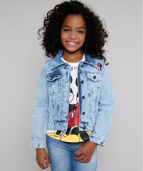 Jaqueta-Jeans-Infantil-Minnie-com-Rasgos-e-Bordado-Azul-Claro-9638826-Azul_Claro_1