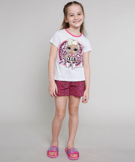 Pijama-Infantil-LOL-Surprise-Manga-Curta-Cinza-Mescla-Claro-9640940-Cinza_Mescla_Claro_1