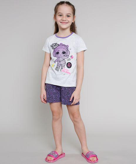 Pijama-Infantil-LOL-Surprise-Manga-Curta-Cinza-Mescla-Claro-9640939-Cinza_Mescla_Claro_1
