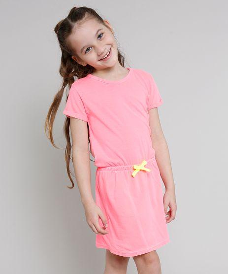 Vestido-Infantil-com-Laco-Neon-Manga-Curta-Rosa-9636526-Rosa_1