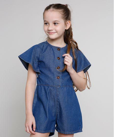 Macaquinho-Jeans-Infantil-com-Botoes-Manga-Curta-Azul-Escuro-9673814-Azul_Escuro_1