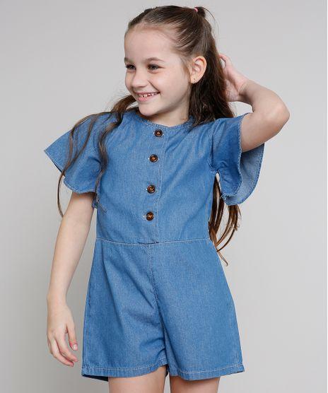 Macaquinho-Jeans-Infantil-com-Botoes-Manga-Curta-Azul-Medio-9673813-Azul_Medio_1