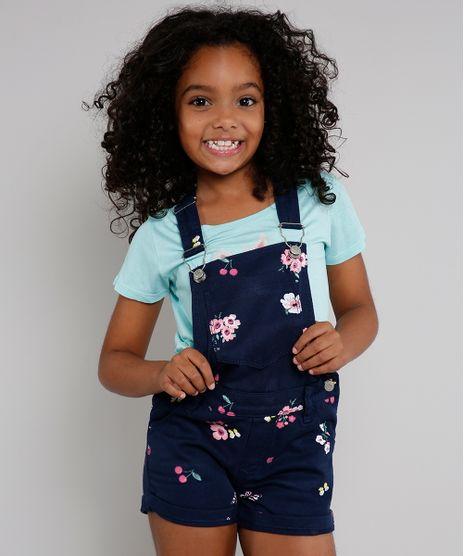 Jardineira-de-Sarja-Infantil-Estampada-Floral-com-Cereja-Azul-Marinho-9615013-Azul_Marinho_1