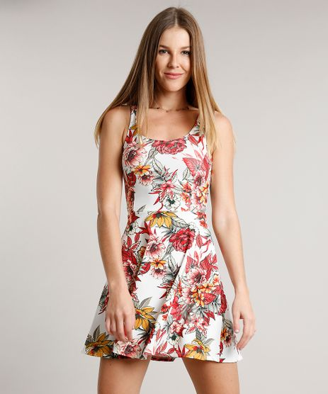 Vestido-Feminino-Curto-Evase-Estampado-Floral-Sem-Manga-Branco-9626792-Branco_1
