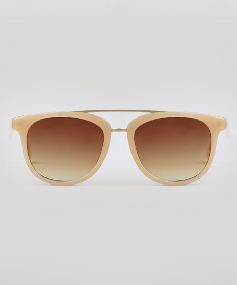 Oculos-de-Sol-Redondo-Feminino-Yessica-Bege-9732449-Bege_1