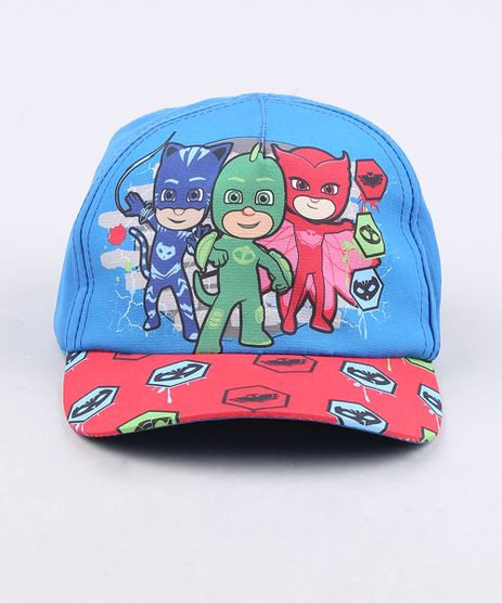 Bone-Infantil-Aba-Curva-PJ-Masks-Azul-Royal-9668924-Azul_Royal_1