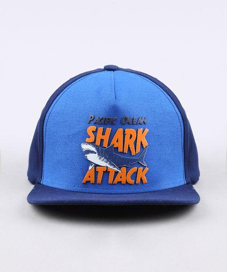Bone-Infantil-Aba-Reta--Shark-Attack--Azul-Marinho-9664349-Azul_Marinho_1