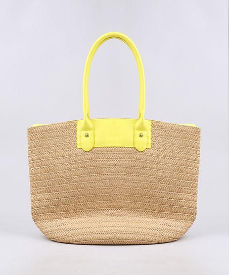 Bolsa-de-Praia-Feminina-Shopper-Grande-com-Palha-e-Alca-Neon-Bege-9602429-Bege_1
