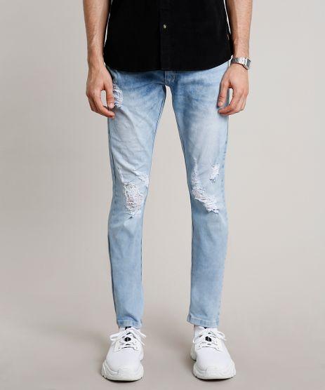 Calca-Jeans-Masculina-Slim-com-Rasgos-Azul-Claro-9663930-Azul_Claro_1