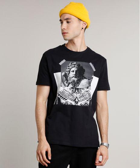 Camiseta-Masculina-Estatua-Manga-Curta-Gola-Careca-Preta-9645379-Preto_1